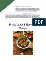 Top 10 Best Delicious Food Recipes