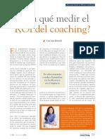 Coaching - ¿Para Que Medir El ROI Del Coaching?