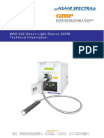MAX-302 Xenon Light Source 300W Technical Information