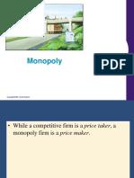 MICRO ECONOMICS CONCEPTS- MONOPOLY