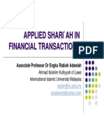 Applied Shariah in Financial Transactions