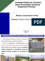 Práticas Mecânicas Para o Controle Da Erosão Hídrica
