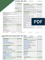 middle school progress report 2019-2020