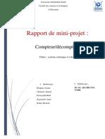 Rapport Compteur Decompteur