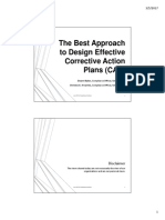 The Best Approach To Design Effective Corrective Action Plans