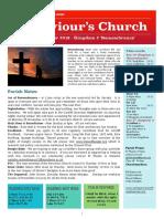 st saviours newsletter - 10 nov 2019 - kingdom 2 remembrance