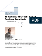 11 Must Know ABAP Skills for SAP Functional Consultants