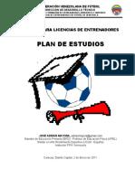 plan de estudios entrenador de futbol conmebol
