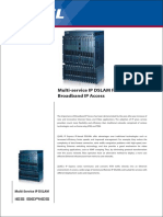Multi-service IP DSLAM for Broadband IP Access