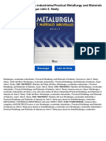 Metalurgia y Materiales IndustrialesPractical Metallurgy and Materials of Industry Dxynu