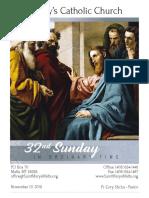 Bulletin for November 10, 2019