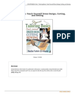 Tailoring Basics Teach Yourself Dress Design Cut eBook