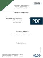 Informe- Equilibrio quimico