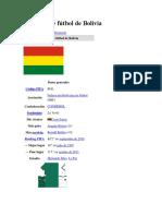 Selección de Fútbol de Bolivia