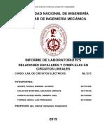 Labo Circuitos Electricos Informe 5