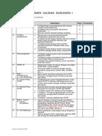 Instrumen Validasi Dokumen 1