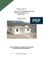 PRIDE Project Bagh Progress Report Jan-2010
