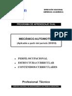 Estructura y PEA AMOD Mecánico Automotriz 201910