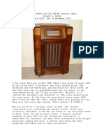 Restoration of My Philco Model 46-1209 Console Radio