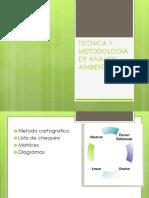 técnica y manejo de análisis de gestión  ambiental