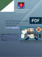 Actividad de Auto-evaluación - Capítulo 1 - Auditoría en Informática