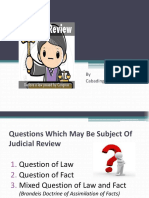 Questions Subject to Judicial Review