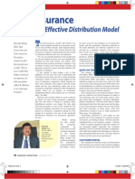 Bancassurance - An Effective Distributive Model