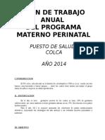 Plan Anual de Trabajo Materno Perinatal