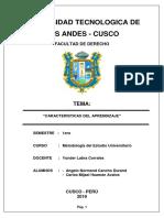 Monografia Caracterisitcas Del Aprendizaje (Terminado)