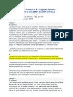 Evaluación Final - Escenario 8 – Segundo Intento - CONSTITUCIÓN E INTRODUCCIÓN CÍVICA