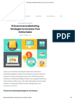 15 Ecommerce Marketing Strategies to Increase Your Online Sales