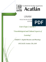 Neurobiological and Cultural Aspects of Learning