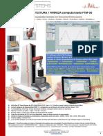 FTM50 Analizador Textura-Firmeza Alimentos