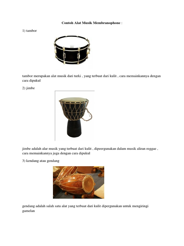Contoh Alat Music Membranophone