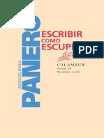 Panero, Leopoldo María - Escribir como escupir