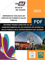 Informe Quindio - Primer Semestre de 2019