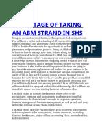 Advantage of Taking an Abm Strand