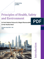 CGE653-Chapter 1 Part 1 HSE Principles and OSH Movement in Malaysia