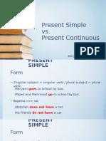 present simple vs continuous dc