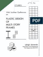 PLASTIC DESIGN MULTISTORY FRAMES