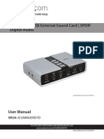 Channel USB External Sound Card__Usermanual