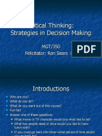 Critical Thinking Assumption