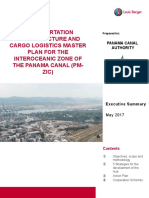 Transportation Infrastructure and Cargo Logistics Master Plan for The Interoceanic Zone of the Panama Canal (PMZIC)
