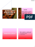 Biochemical Composition of the Blood