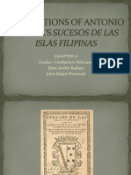 Annotations of Antonio Morgas Sucesos de Las Islas