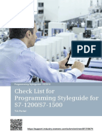 Programming Style Guides - PLC