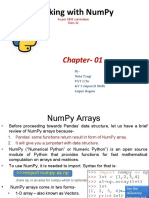 Working With Numpy
