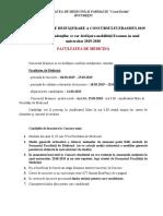 Metodologie Concurs Erasmus 2019 Facultatea de Medicina