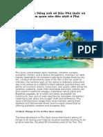 Thuyết Minh Tiếng Anh Về Đảo Phú Quốc Và 10 Điểm Tham Quan Nên Đến Nhất ở Phú Quôc