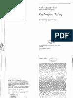 Anne Anastasi- Psychological Testing I